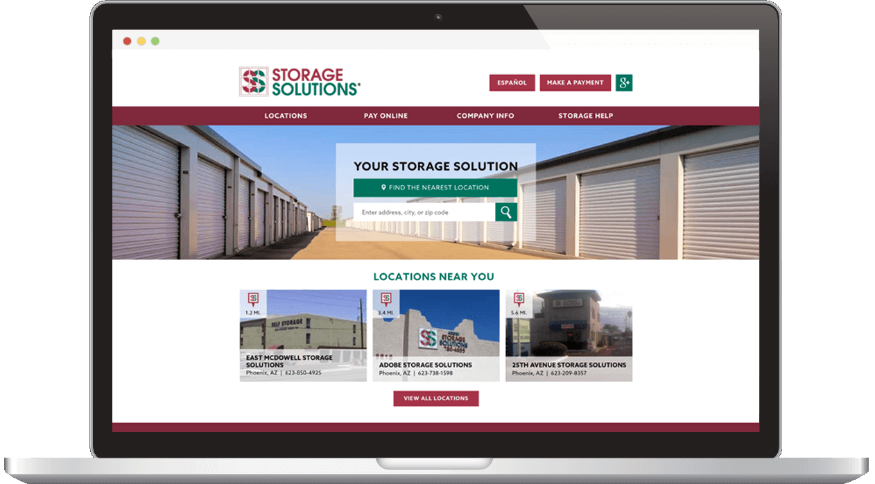 Storage Solution Website