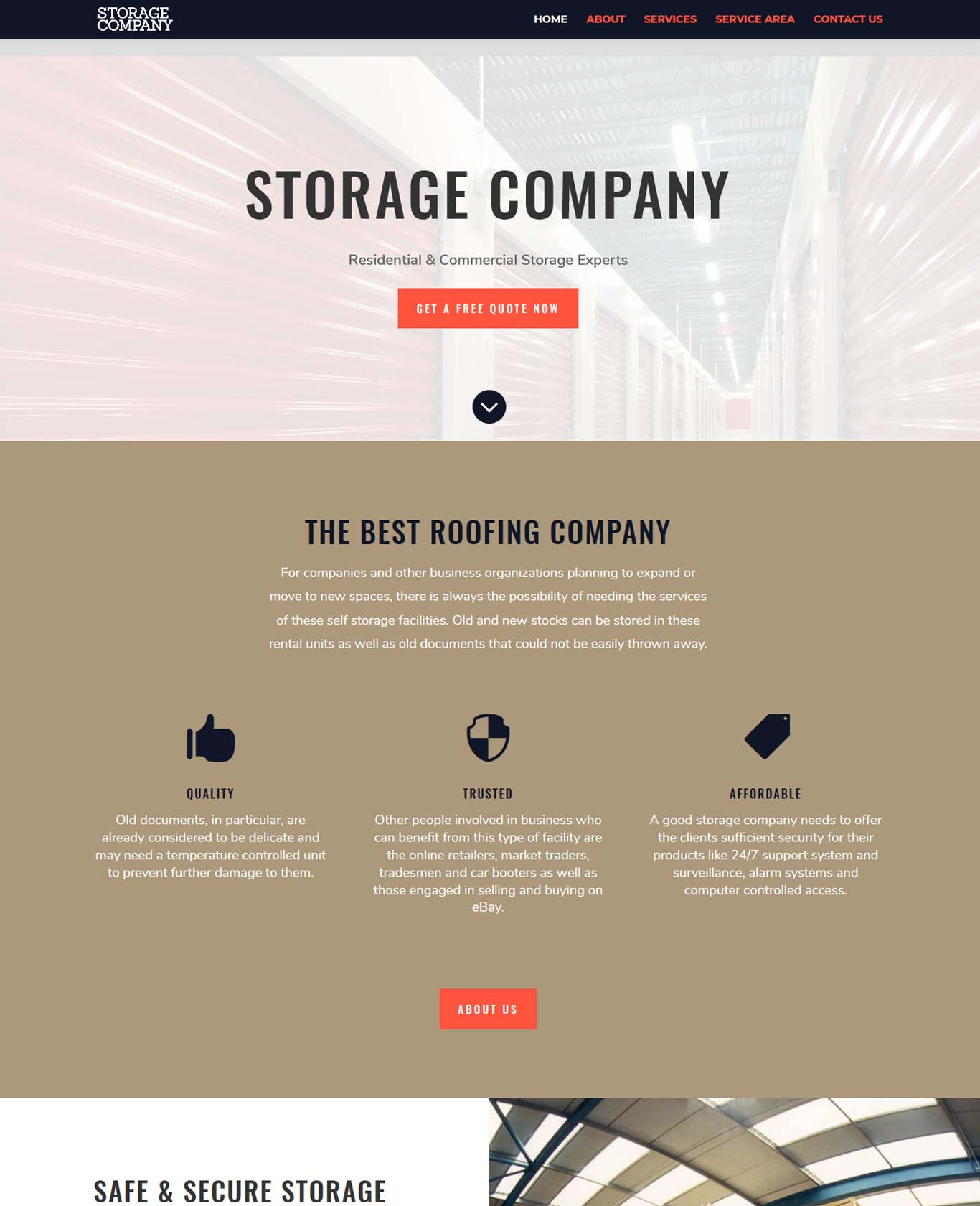Storage Website Sample 4