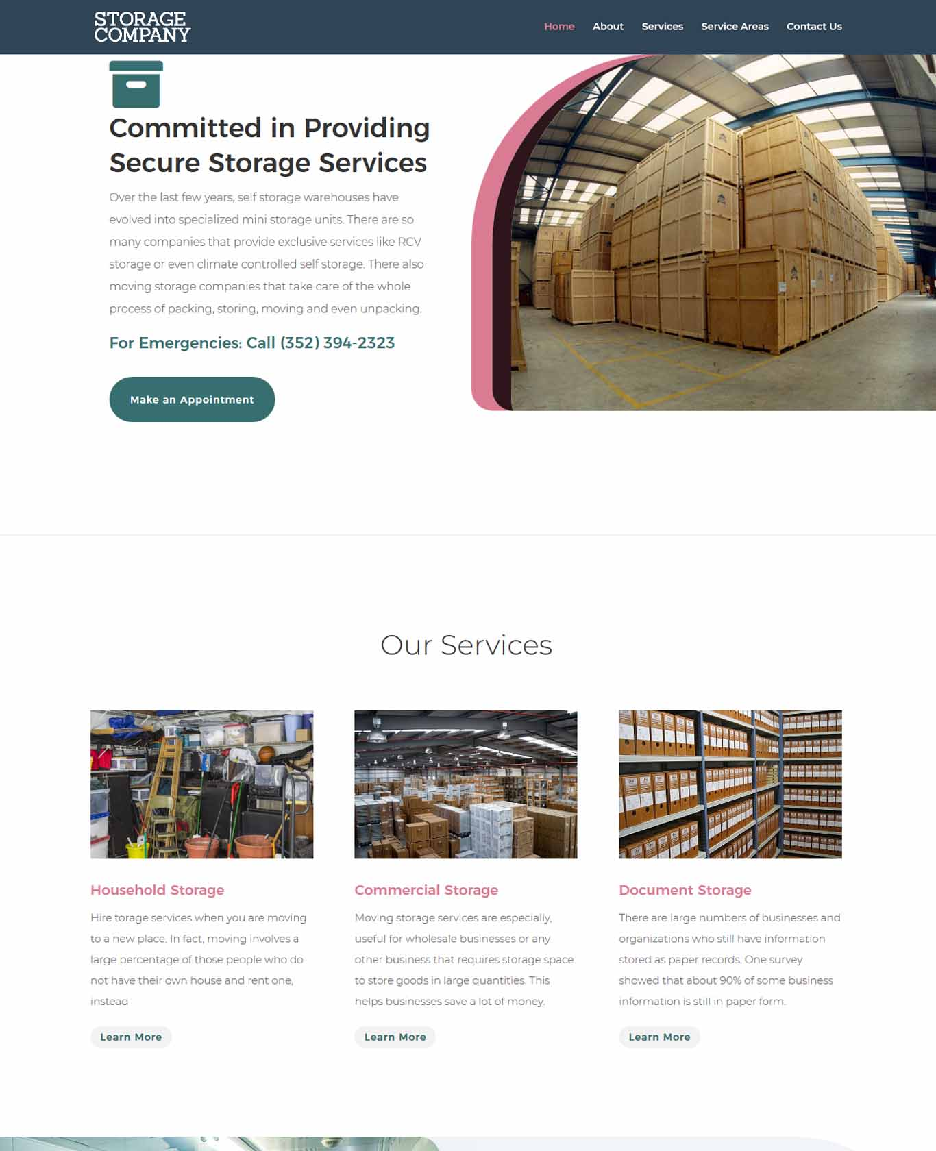 Storage Website Sample 1